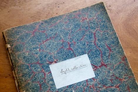Photograph of original Lyell Collection catalogue